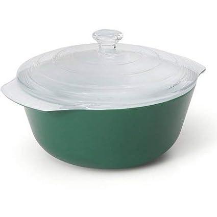 Creo SmartGlass Bali Covered Casserole Dish Dark Green