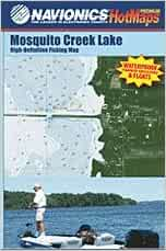 Mosquito creek lake high definition fishing map navionics for Mosquito lake fishing
