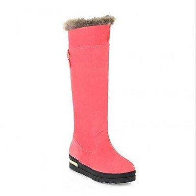 Pink 5 Casual Pu Botas Blushing Beige Mujer Rosa Negro amp;xuezi Nieve De Otoño Cms Marrón Gll Invierno 7 wqTHxOFC