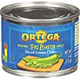 Ortega Diced Green Chiles - 26 oz. can, 12 cans per case
