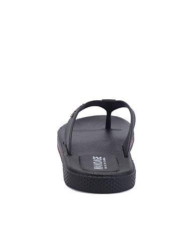 NTX/ Men's Shoes Outdoor / Casual Style Summer Beach Leatherette Flip-Flops Black / Brown black-us7.5 / eu39 / uk6.5 / cn40 LW9sc