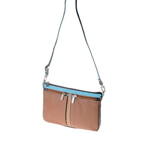 Dudu - Sac porté épaule en cuir - Colorful Collection - Togean - Marron foncé
