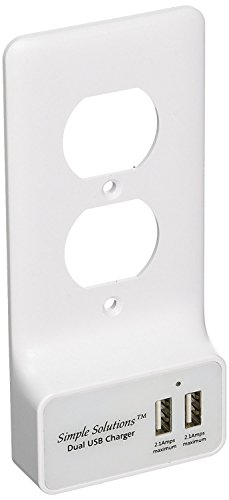 Dual USB Charger, Snap On Duplex Wall Plate with 2 USB Smart Charger Ports As Easy to Install as a Wall Plate