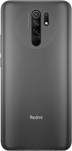 """Xiaomi Redmi 9 - Smartphone de 6.53"""" FHD+, 4 GB y 64 GB, Cámara cuádruple de 13 MP con IA, MediaTek Helio G80, Batería de 5020 mAh, 18 W de Carga rápida, Carbon Gris [Versión ES/PT]"""