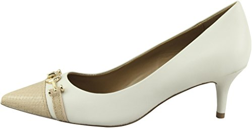 Coach Women¡¯s Lauri Chalk Beechwood Mat Calf Pointed-Toe Pumps 8.5 B US Women Photo #4