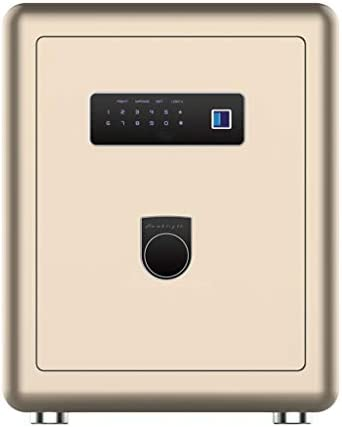 パーツボックス 開梱方法家庭用ベッドミニロッカーオフィス盗難防止見えないセーフティボックスクリスマスのギフトの安全な3種類 (Color : Gold, Size : 37.6*35*39.6cm)