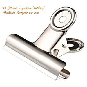 EMI Craft 12pcs Mango de metal redondo Clips de papel de oficina Papeler/ía Pinzas,6cm