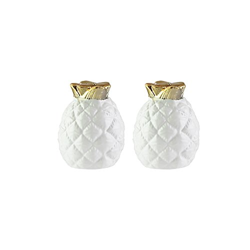 - American Atelier 6887-SP-A Pineapple Salt & Pepper Shakers, 2 x 2.75