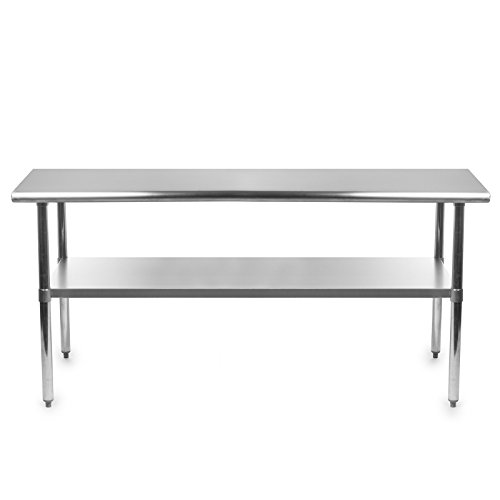 Gridmann Stainless Steel Commercial Kitchen Prep & Work Table - 72 in. x 24 in.
