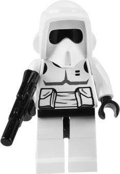 LEGO Star Wars LOOSE Mini Figure Scout Trooper with Printed Head & Blaster Pistol