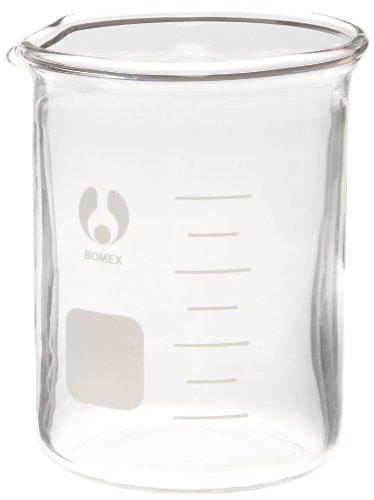 American Educational Clear Borosilicate Glass Bomex Griffin Beaker, 100 milliliter Capacity (Griffin Bomex Beakers)