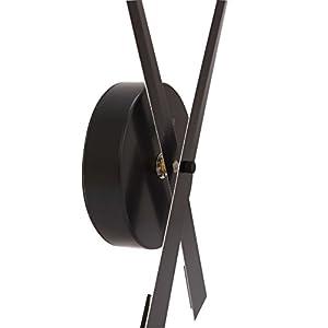 "Nextime 2269zw - Manecillas de reloj de pared;Nextime - 2269zw - Pendule Mural - 90cm de diamètre - Quartz Analogique -aluminuim - Chiffres Noirs - "" Hands "" 3"