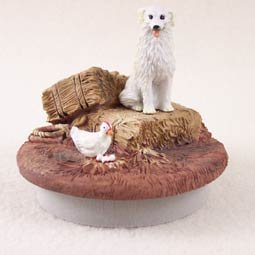 Conversation Concepts Miniature Kuvasz Candle Topper Tiny One ''A Day on the Farm''