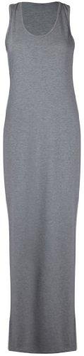 Manche Ronde Dos Extensible Gris Purple Encolure Robe Uni clair Hanger Sans Neuf Nageur Long Et Dbardeur Femme Maxi tBwwvYAq