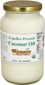 Tropical Traditions Expeller-Pressed Organic Coconut Oil -- 32 fl oz