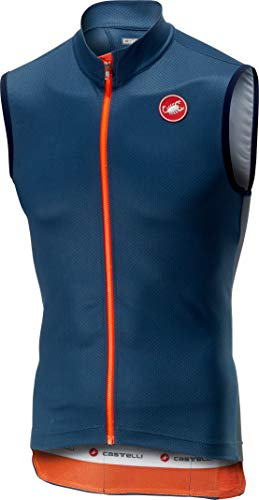 Castelli Entrata 3 Sleeveless Full-Zip Jersey - Men's Light Steel Blue, M