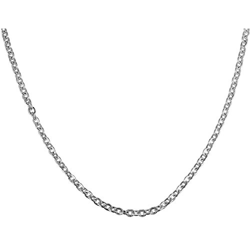 Titanium Cable Chain (NEOWOO Stainless Steel Titanium Steel Necklace O Chain Men Women Cable Link Pendant Jewelry Fashion 2.5mm Wide Silver (70))