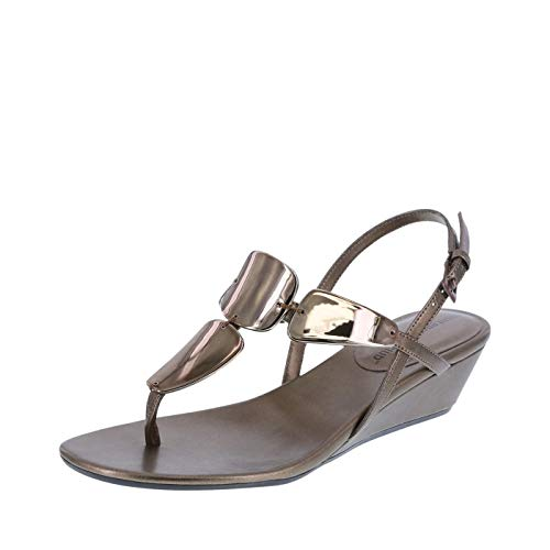 Montego Bay Club Bronze Women's Mork Wedge Sling Sandal 5.5 Regular