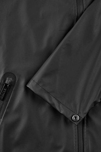 Impermeable Negro Breaker Black 01 Abrigo Rains para Hombre wzBEq