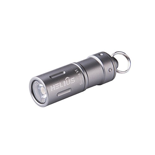 Mini Rechargeable LED Keychain Flashlight - Smallest USB Tactical Waterproof Brightest LED Flashlight with 2 Modes Including Rechargeable Battery, Micro USB Cable, Waterproof O-rings and O-Ring (Grey)