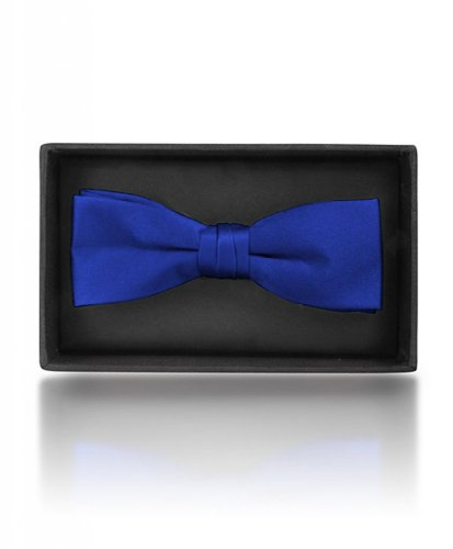 Boy's Poly Satin Banded Clip On Bow Ties