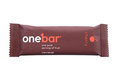 OneBar Fruit Bar- Pure Serving of Fruit. All Natural, Gluten-Free Snack, Enriched with Baobab – Cherry, 0.9 Ounce (Pack of 12)
