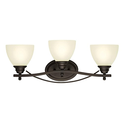 Westinghouse Lighting 6303400 Elvaston Three-Light Indoor Wall Fixture, Oil Rubbed Bronze Finish with Frosted Glass, ()