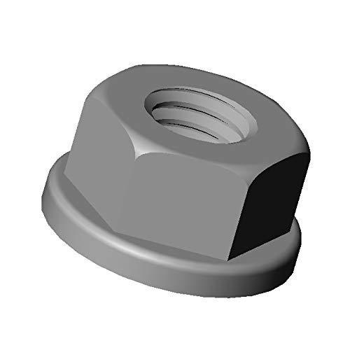 ajile - 20 piè ces - É crou hexagonal avec embase nylon diam. M6 clef de 10 mm plastique polyamide PA6.6 isolant