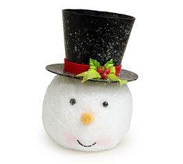 Amazon.com: Snowman Head Shaped Tree Topper or Planter: Patio ...