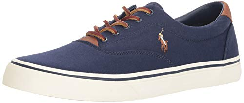 Polo Ralph Lauren Men's Thorton Sneaker, Navy, 12 D US