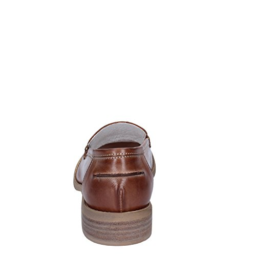 Marrone pour Cuoio femme Crown Mocassins Azxqw8vw
