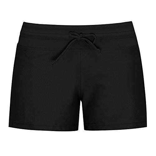 Wide Waistband Bikini Bottom (URqvick Women's Solid Tankini Bottom Swim Trucks Wide Waistband Lace Up Bikini Bottom)