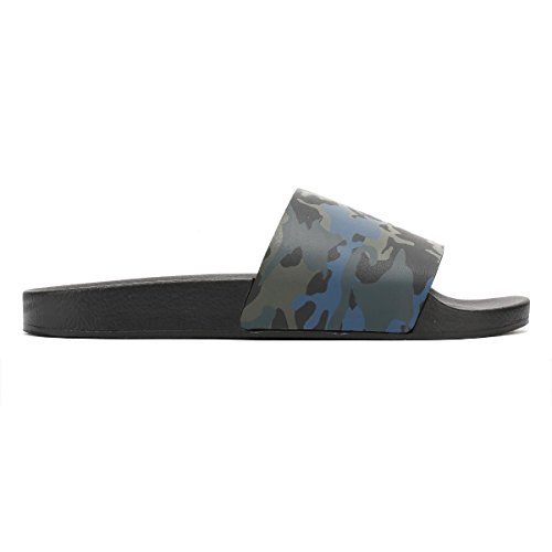 TOWER London Mujer Summer Slides Sandlias Camo Print
