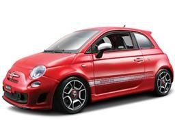 2008 Fiat Abarth 500 Red 1/18 Diecast Car Model