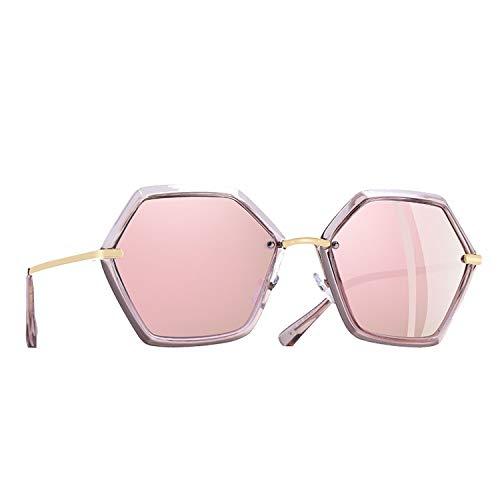 Sunglasses Women Unique Hexagon Frame Ladies Polarized Sunglasses Female Goggles ()