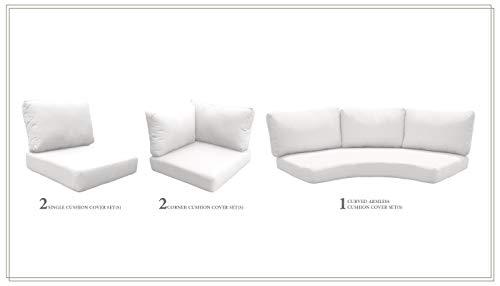 Amazon.com : TK Classics Cushions-FLORENCE-06k-WHITE ...