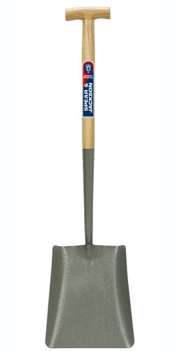 Spear & Jackson Square Mouth No.2 Solid Socket Shovel with T-Handle 2029AV