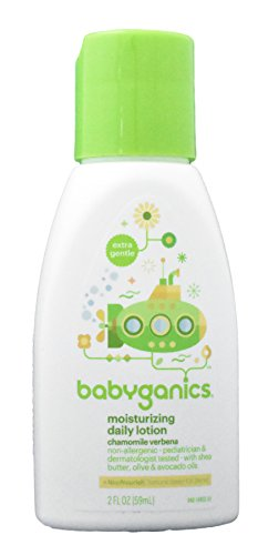 Babyganics - Moisturizing Daily Lotion with Chamomile Verbena - 2 Fluid Ounce Bottle - Pack of 3