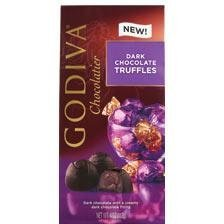 Luxury Chocolate Truffles - Godiva Dark Chocolate Truffle - 4 OZ - Pack of 2