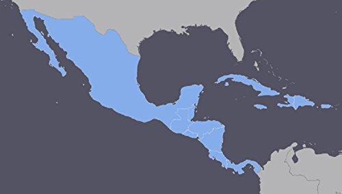 Mexico, Central America, Cuba GPS Map 2018 for Garmin Devices … (Map Mexico Gps)