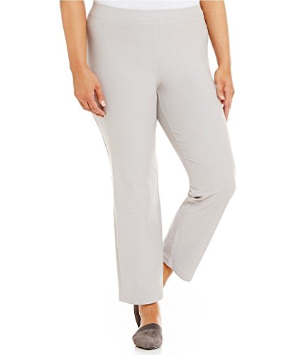 Eileen Fisher Silver Plus Slim Stretch Crepe Solid Ankle Pants Size 3X $178