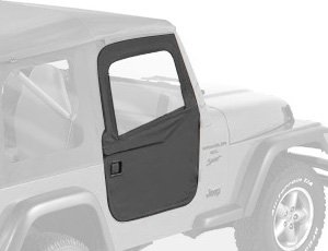 Bestop 51789-35 Black Diamond 2-Piece Door Set for 1997-2006 Wrangler TJ 2-Door and Unlimited - Front