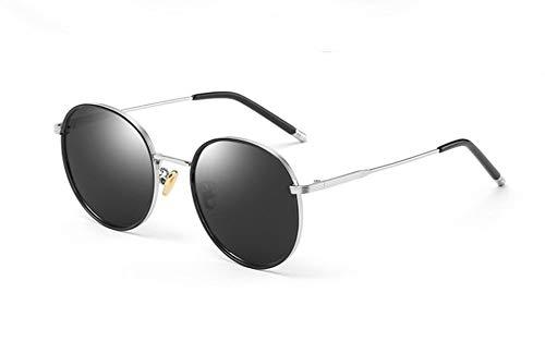 1 Negras Gafas De Protección Redondo WJYTYJ Personalidad Femenino Polarizado UV Sol Retro Marco Hippie X8YqawO