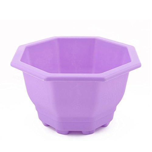 eDealMax Bureau Plastique Accueil Octagon Jardin en Forme de décoration florale Cache-Pot Jardinière Porte-Violet