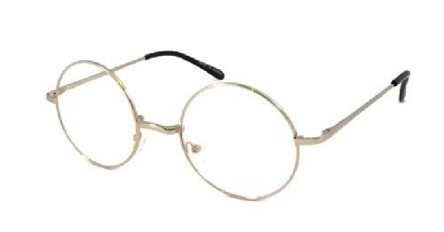 JOHN LENNON Vintage Round Retro Large Metal Frame Clear Lens Eye - John Lennon Round Eyeglass Frames