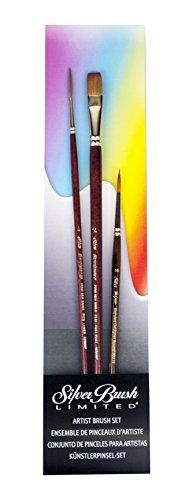 Silver Brush Tom Lynch Deluxe Starter 3 Piece Brush Set
