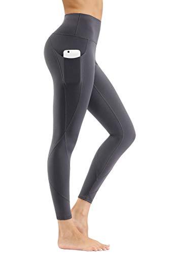 - HKJIEVSHOP High Waist Yoga Pants, Pocket Yoga Pants Tummy Control Workout Pants 4 Way Stretch Pocket Leggings Gray