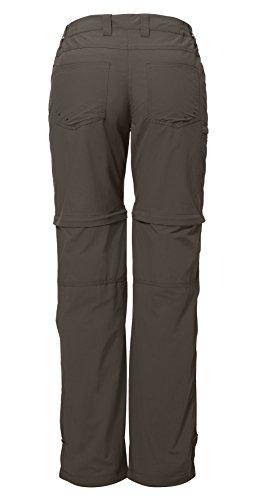 Vaude Farley ZO - Pantalones de senderismo para mujer, color verde, talla 42