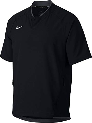 (Nike Men's Hot Baseball Jacket (Black, Medium))