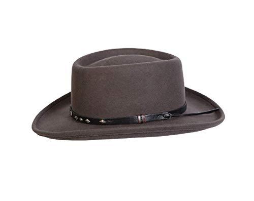 Conner Hats Men's Quincy Wool Gambler Hat - Grey, Medium ()